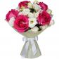 Лизиантус - 4, Роза розовая 50см - 5, Фетр, Лента